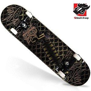Skate Montado Black Sheep Profissional Maquina de Tatoo