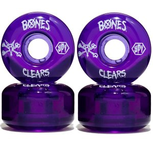 Roda Bones Original SPF Clears 54mm Purple ( jogo 4 rodas )