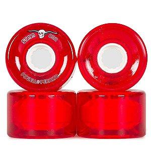 Roda Powell Peralta Skateboard Clear Cruiser 55mm 80A Vermelha ( jogo 4 rodas )