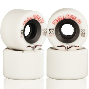 Roda Powell Peralta Skateboard G-Slide 56mm 85A Branca ( jogo 4 rodas )