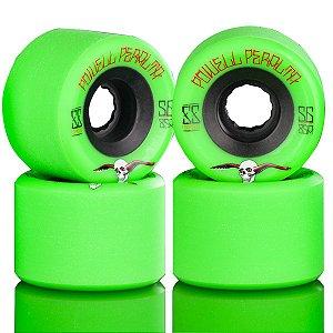 Roda Powell Peralta Skateboard G-Slide 56mm 85A Verde ( jogo 4 rodas )