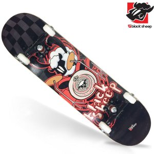 Skate Montado Black Sheep Iniciante Black Red
