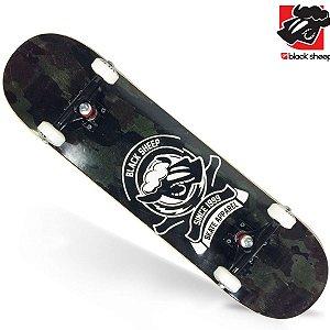 Skate Montado Black Sheep Semi Profissional Camuflado