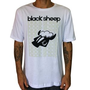 Camiseta Black Sheep Escritos Branca