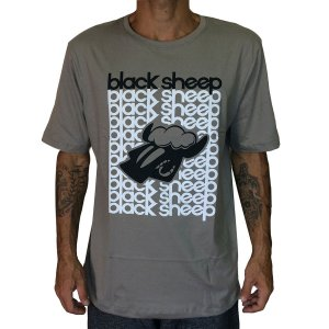 Camiseta Black Sheep Escritos Cinza