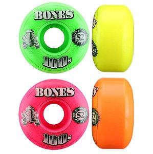 Roda Bones 100S OG Formula 52mm Colorida ( jogo 4 rodas )