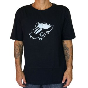 Camiseta Black Sheep Derretendo Preta