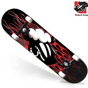 Skate Montado Black Sheep Profissional Chamas
