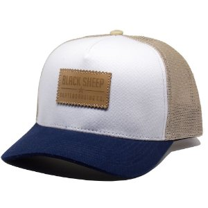 Boné Black Sheep Trucker Aba Curva Colors Branco