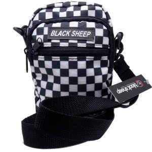 Shoulder Bag Black Sheep Quadriculada Preto e Branco