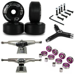 Truck Brutus 139mm + Roda Black 51mm Black Sheep + Chave + Abec 7 + Parafusos