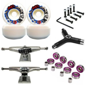 Roda Next Max 52mm + Truck Brutus 139mm + Chave + Abec 7 + Parafusos
