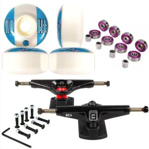 Roda Next Max 53mm + Truck Fun Light 139mm + Abec 7 + Parafusos
