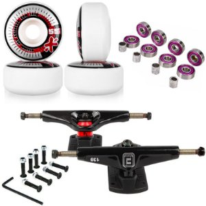 Roda Next Max 55mm + Truck Fun Light 139mm + Abec 7 + Parafusos