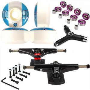 Roda Next 53mm + Truck Fun Light 139mm + Abec 7 + Chave + Parafusos