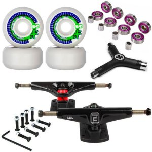 Roda Next Max 54mm + Truck Fun Light 139mm + Abec 7 + Chave + Parafusos