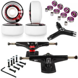 Roda Next Max 55mm + Truck Fun Light 139mm + Abec 7 + Chave + Parafusos