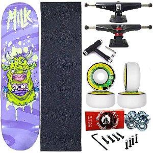 Skate Completo Profissional Shape Maple Milk Frank 8.0 + Chave T