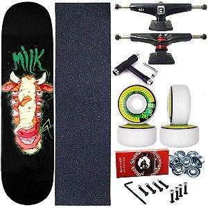 Skate Completo Profissional Shape Maple Milk Allien 8.0 + Chave T