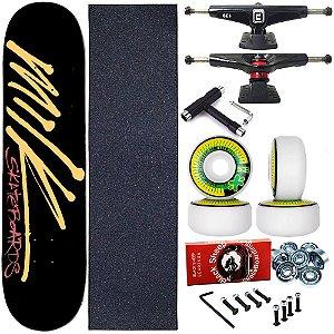 Skate Completo Profissional Shape Maple Milk Black 8.0 + Chave T