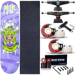 Skate Completo Profissional Shape Maple Milk Frank 8.0 BS Black + Chave T