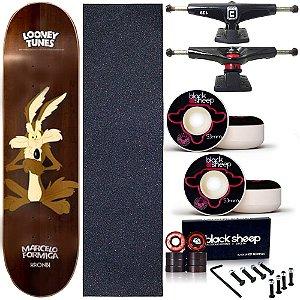 Skate Completo Profissional Shape Maple Kronik 8.0 Looney Tunes Coyote