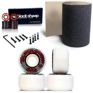 Roda Black Sheep 53mm 83B + Rolamento Black + Lixa Importada