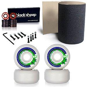 Roda Next Max 54mm + Rolamento Black + Lixa Importada