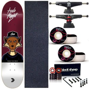 Skate Completo Profissional Maple Cisco Fox Piquet 8.25 BS Black