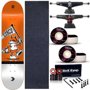 Skate Completo Profissional Maple Cisco Fox 8.0 BS Black