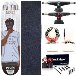 Skate Completo Profissional Maple Cisco Piquet 8.125 BS Black