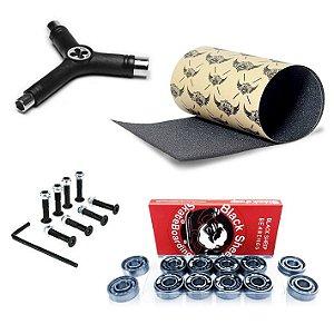 Rolamento Black Sheep Silver + Lixa Jessup Importada + Chave Y + Parafusos de Base