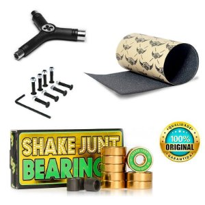 Rolamentos Shake Junt Triple Og Abec 7 Importado + Lixa Jessup Importada + Chave Y + Parafusos
