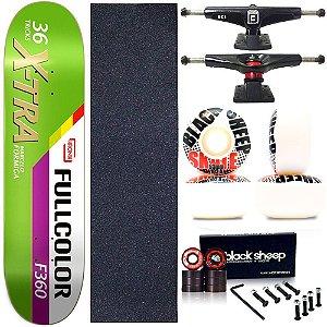 Skate Completo Profissional Shape Maple Kronik 8.0 X-Tra BS Black