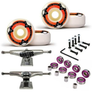Roda Black Sheep 51mm + Truck Brutus 139mm + Abec 7 + Parafusos