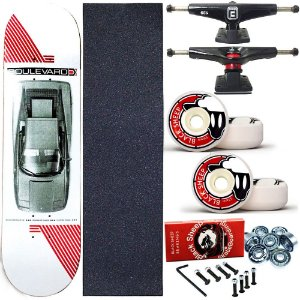 Skate Completo Profissional Shape Maple Boulevard 7.9 Danny Roda BS 55mm
