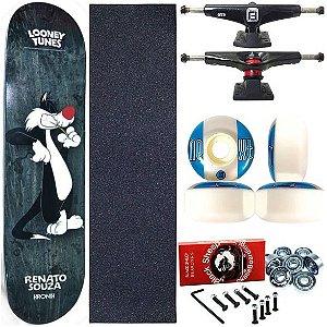Skate Completo Profissional Shape Maple Kronik 8.0 Looney Tunes Black