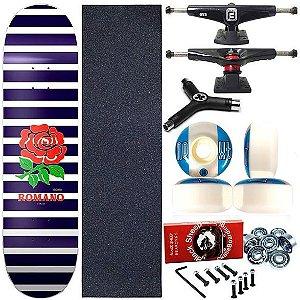 Skate Completo Profissional Shape Maple Kronik 8.0 Romano + Chave Y