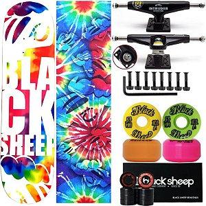Skate Profissional Completo Maple Black Sheep Tie Dye 8.0