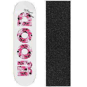 Shape de Skate Profissional Wood Ligth Army Pink 8.0 (Lixa de Brinde)