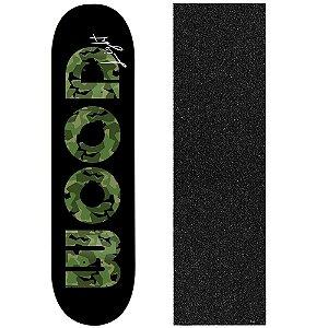 Shape de Skate Profissional Wood Ligth Army Green 8.0 (Lixa de Brinde)