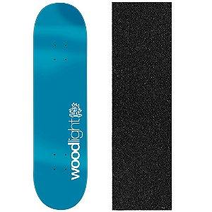 Shape de Skate Profissional Wood Ligth Basic Blue 8.0 (Lixa de Brinde)