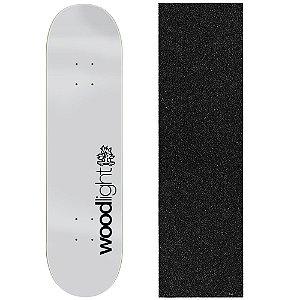 Shape de Skate Profissional Wood Ligth Basic Grey 8.0 (Lixa de Brinde)