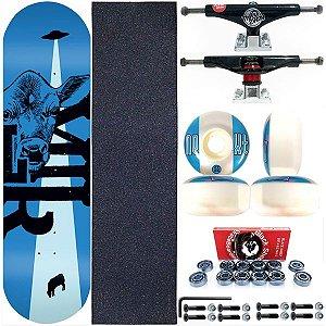 Skate Completo Maple Milk Skate 8.0 Beto Janz Blue + Truck ThisWhay Black