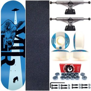 Skate Completo Maple Milk Skate 8.0 Beto Janz Blue + Truck ThisWhay Silver