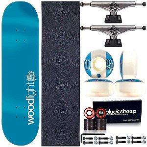 Skate Completo Shape Wood Ligth 8.0 Light Basic Blue + Truck This Way