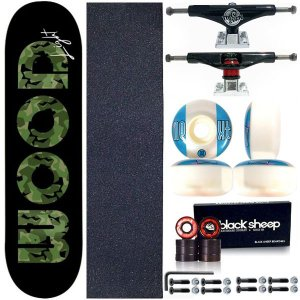 Skate Completo Shape Wood Light 8.0 Black + Truck This Way