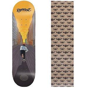 Shape de Maple Represent Skate Pelas Ruas 8.0 (Grátis lixa Jessup)