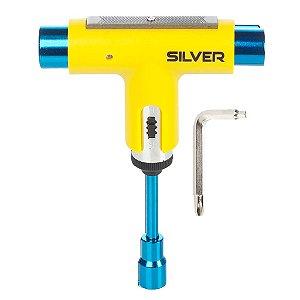 Chave para Skate Silver Tool Neon Amarela