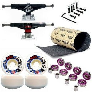 Roda Next Max 52mm + Truck This Way Black + Abec 7 + Lixa Jessup + Parafusos